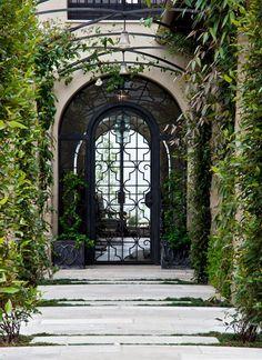 Front gate with Nice pots   - IrvineHomeBlog.com #Irvine  #RealEstate