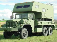 ...1970 5-ton 6X6 (model 813 w/winch) truck has a nice 10-foot fully self contained camper permanently attached ....