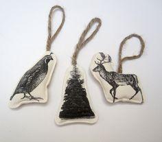 set of three image ornaments por pilosale en Etsy