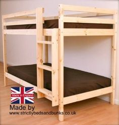 Adult Bunkbed - 3ft Single Bunk Bed - VERY STRONG BUNK! - Contract Use - has TWO centre rails for added support: Amazon.co.uk: Kitchen & Hom...