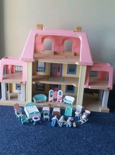 Awesome Vintage Little Tikes Grand Mansion Dollhouse Furniture People House RARE  HTF | EBay