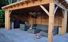 backyard designs – Gardening Ideas, Tips & Techniques Backyard Patio Designs, Backyard Pergola, Outdoor Rooms, Outdoor Living, Outdoor Decor, Back Gardens, Outdoor Gardens, Gazebo, Garden Buildings