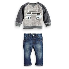 Kids Boys Long Sleeve Pullover Shirt Jeans Denim Trousers 2016 Spring Kids Clothes, Casual Boys Clothing Set