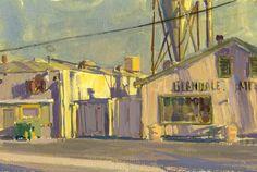 Mike Hernandez gouache landscapes