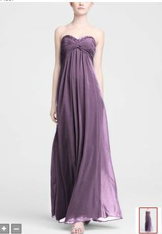 the bridesmaid dress. long sheer chiffon dress with beaded neckline in wisteria