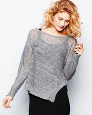 Eileen Fisher Mélange Bateau-Neck Sweater