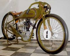Some of the bikes used on the early dirt tracks