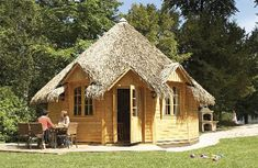 Photo du site Camping Saint Malo, Woodland Lodges, She Sheds, Lodge Style, France, Big Family, Cottage, Plein Air, Play Houses
