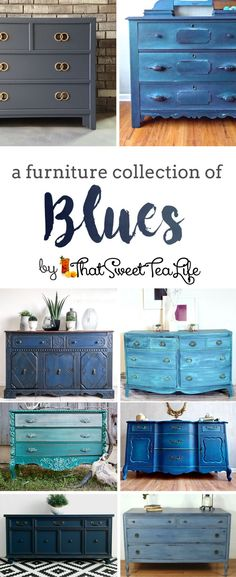 A Collection Of The Most Brilliant Blue Painted Furniture A Furniture Collection Of Blues By That Sweet Tea Life Blue Painted Furniture Ideas Teal Furniture Navy Furniture Painted Dressers Hale Navy Furniture Inspiration Blue Furniture Makeovers Shabby Chic Dresser, Repurposed Furniture, Teal Furniture, Furniture Collection, Blue Painted Furniture, Navy Furniture, Chalk Paint Furniture, Furniture Makeover, Shabby Chic Furniture