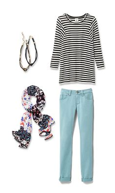 Check out five unique ways to mix and match the Tidal Skinny with other cabi items!