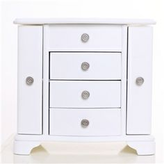 Sabrina 2 door jewlery box in white