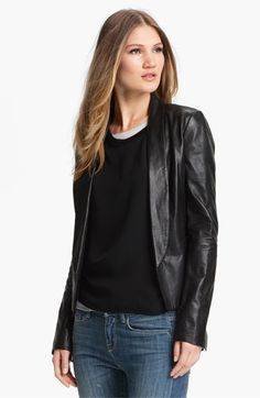 Vince Leather Blazer available at Nordstrom
