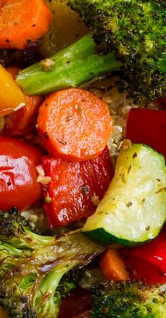 Roasted Vegetables - this site gives a guide for roasting timing for different v. - veggies and side dishes - Spicy Recipes, Diet Recipes, Vegetarian Recipes, Cooking Recipes, Healthy Recipes, Cheap Recipes, Cooking Games, Cooking Videos, Cooking Classes
