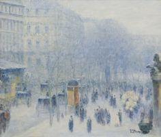 """Avenue Parisienne,"" Gail Sherman Corbett, oil on canvas,  20 1/2 x 24 1/4"", McColl Fine Art."