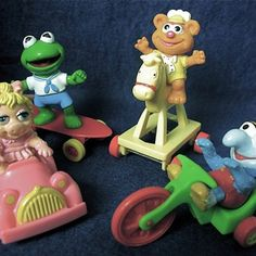 80s McDonald's happy meal toys.  My mom was awesome and made sure we got the whole Muppets collection!