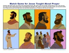 Jesus Taught About Prayer Match Game