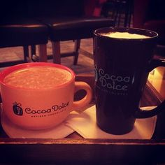 Something to warm @sterlingsschroeder and I up in this winter hell #hot chocolate #coffee #cocoadolce #love #yum #warmyourspirits @Whitney Botterweck  on Instagram