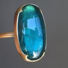 "1,243 Beğenme, 10 Yorum - Instagram'da August (@augustlosangeles): ""This beauty did not stay long. An incredible blue-green tourmaline set in 18k by Gabriella Kiss.…"""