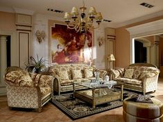 We carry the Finest Italian Furniture. Our Italian Furniture Showroom has Beautiful Italian Living Room Sets. Italian Living Room, Classic Living Room, Sofa Furniture, Living Room Furniture, Living Room Decor, Luxury Furniture, Classic Home Furniture, Italian Furniture, Antique Furniture