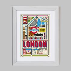 London Cross Stitch Pattern Digital Format PDF by Stitchrovia