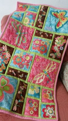 Simple baby quilt using panel