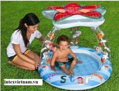 Bể bơi phao mái che hình ngôi sao INTEX 57428