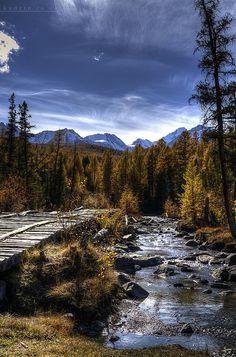 Altai Mountains in Siberia. Photo taken by Andrew Kudrin