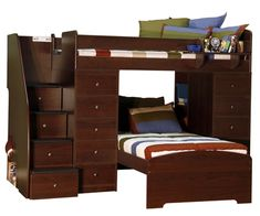 Space Saver Bunk Beds evan study bunk bed | space saver, small rooms and desks