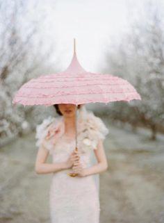 Pink Parasol perfect for this rainy day Under My Umbrella, Pink Umbrella, Umbrellas Parasols, Wedding Umbrellas, Fru Fru, Braut Make-up, Pastel Decor, Everything Pink, Girly Girl