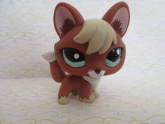 Littlest Pet Shop 1126 Red Brown Fox Teal Green Eyes | eBay