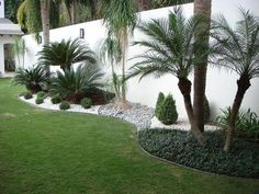 35 Simple Handmade Garden Landscaping Ideas In Side Your House Front yard landscaping, Backyard land Florida Landscaping, Front Yard Landscaping, Landscaping Design, Palm Trees Landscaping, Acreage Landscaping, Outdoor Landscaping, Simple Landscaping Ideas, Simple Garden Ideas, Residential Landscaping