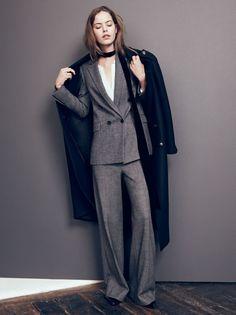 z a r a   HonestlyWTF   oversized grey pantsuit