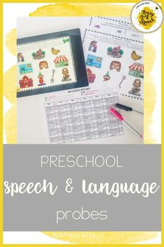 Preschool speech and language probes for therapy.