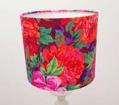 Flower Lamp Shade Medium Lampshade Home Floral Lampshade Medium Fabric Lampshade by INKYshades on Etsy https://www.etsy.com/listing/208583659/flower-lamp-shade-medium-lampshade-home