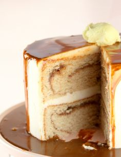 French Toast Layer Cake by @Kristan Roland. Is Heaven like this cake? I think so.