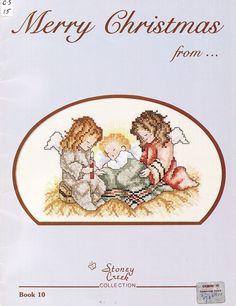 Christmas Cross Stitch Patterns - angels, baby Jesus, via Etsy.