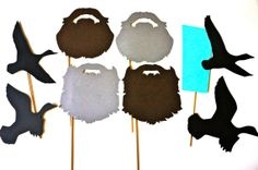 Duck Dynasty DELUXE Prop Set - Duck Dynasty Beards on a stick - Birthdays, Weddings, Parties - Set of 9 Photo Booth Props on Etsy, $20.00