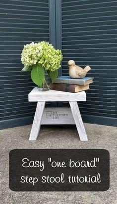 easy one board step stool tutorial http://MyRepurposedLife.com