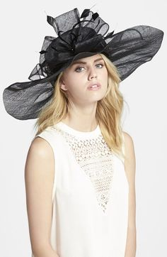 Nordstrom Sinamay Hat with Flower available at #Nordstrom