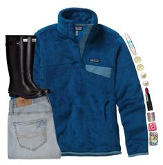 """""""•i was walkin' down a old dirt road..•"""" by shannaolo ❤ liked on Polyvore featuring Patagonia, Abercrombie & Fitch, Initial Reaction, Maybelline, NARS Cosmetics, Carolee, Vera Bradley, Hunter, women's clothing and women"""