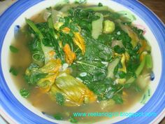 "Another popular regional dish from the northern Luzon area in the Philippines is ""abraw"" or ""inabraw"". I believe the other Ilocano term ""din. Filipino Dishes, Filipino Recipes, Filipino Food, Vegetable Stew, Vegetable Dishes, Fish Soup, Seaweed Salad, Veggie Recipes, Cravings"