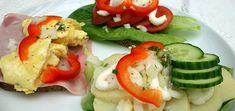 Open faced sandwiches or smørrebrød- A very tasty and common Danish lunch