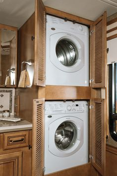Keep your clothes fresh and clean wherever you are when you add the stackable Washer and Dryer.