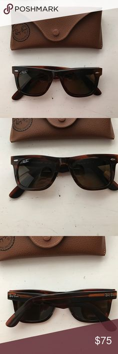 Ray Ban Wayfarer Brown Ray Ban Wayfarers. Excellent condition. Case included. Ray-Ban Accessories Sunglasses