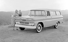 Chevrolet Suburban 1960-can you imagine pulling up to pick your kids in this now?