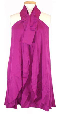 NEW Elie Tahari Womens Dress JOLENE Silk Halter Bow Trapeze Cocktail Pink 6 $348 #ElieTahari #Trapeze #Cocktail