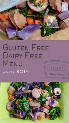 Gluten Free Dairy Free June 2014 Menu | Once A Month Meals | Freezer Meals | Freezer Cooking | Gluten Free | Dairy Free | Celiac Meals