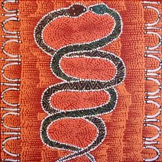 Warlukurlangu Artists - Simon Japangardi Fisher - Warna Jukurrpa (Snake Dreaming) - 585/12