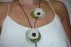 Roses ...Μπλε και Πράσινο ,Λεπτομέρειες !! Handmade Necklaces, Washer Necklace, Jewelry, Fashion, Moda, Jewlery, Jewerly, Fashion Styles, Schmuck