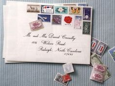 Using vintage stamps ... how cool!, but would they be hard to find? Paper.